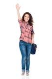 Girl with bag Royalty Free Stock Image