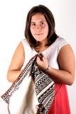 Girl with bag Stock Photo