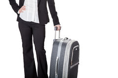Girl with baggage Royalty Free Stock Photography