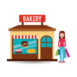 Girl bakery shopping gift buying Royalty Free Stock Photography