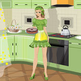Girl with baking Stock Image