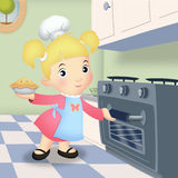 Girl Baking Stock Image