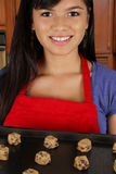 Girl Baking Cookies Royalty Free Stock Photo