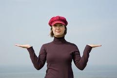 Girl in balance Royalty Free Stock Image