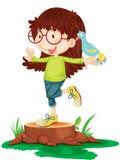 Girl balancing Stock Images