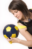 Girl & Ball 11 Royalty Free Stock Photography