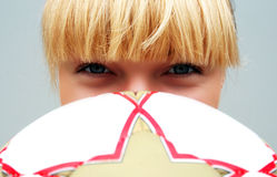 Girl with ball Stock Image