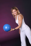 Girl with ball Royalty Free Stock Photos