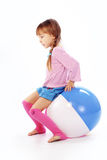Girl with ball Royalty Free Stock Photo