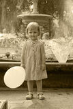 The girl with a ball Stock Photography