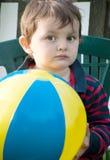 Girl with ball Stock Photo