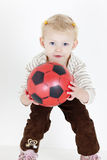 Girl with a ball Royalty Free Stock Images