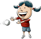 Girl with Ball Royalty Free Stock Photography