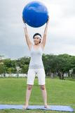 Girl with a ball Royalty Free Stock Image