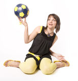 Girl & Ball 3 Stock Photography