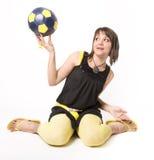 Girl & Ball 3 Stock Photography