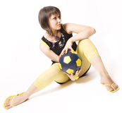 Girl & Ball 4 Stock Photography