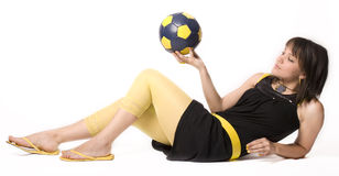 Girl & Ball 5 Stock Photos