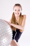 Girl and ball Stock Photography