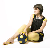 Girl & Ball 6 Royalty Free Stock Photo