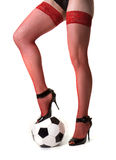 Girl and ball Royalty Free Stock Images