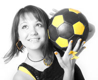 Girl & Ball 8 Royalty Free Stock Image