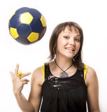 Girl & Ball 9 Stock Image