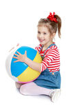 The girl with the ball Stock Photos