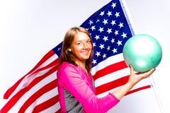 Girl with a ball Stock Photos