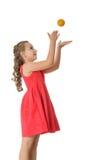 Girl with a ball Royalty Free Stock Photos