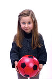 The girl with a ball Royalty Free Stock Photo