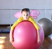 Girl on the ball Royalty Free Stock Photography