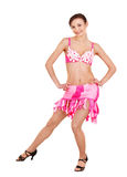 Girl in ball dance dress. Royalty Free Stock Image