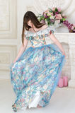Girl in the ball dress Stock Photo