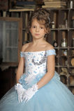 Girl in a ball dress Stock Image