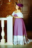 A girl in a ball gown. Royalty Free Stock Images