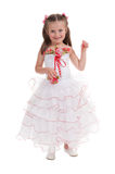 Girl in a ball gown Royalty Free Stock Image