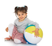 Girl with a ball Royalty Free Stock Photo