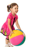 Girl with a ball Stock Photography