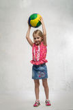 Girl with a ball Stock Photo