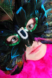 Girl in ball mask royalty free stock image