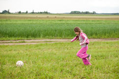 Girl with ball Stock Photos