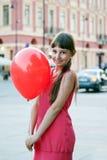 Girl with ball Stock Image