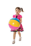 Girl with a ball Stock Image