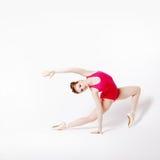 Girl ballerina in a pink leotard Stock Photos