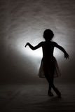 Girl ballet asia silhouette style Stock Photos