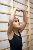 Girl in ballet class Royalty Free Stock Images