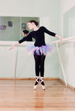 Girl at the ballet class Royalty Free Stock Photography