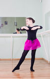 Girl at the ballet class Stock Images