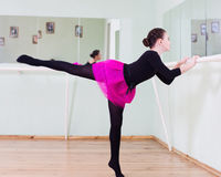 Girl at the ballet class Royalty Free Stock Image